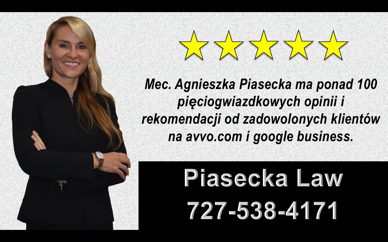 Agnieszka Aga Piasecka Reviews Polski, Adwokat, Prawnik, Orlando, Floryda, USA